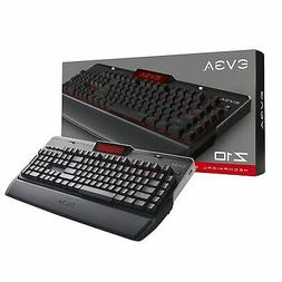 EVGA Z10 Gaming Keyboard, Red Backlit LED, Mechanical Brown